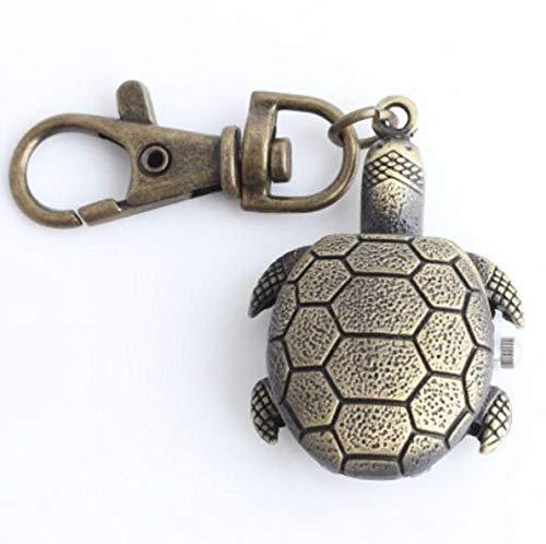 HeyBro Taschenuhr, Schildkröte, Legierung, Schlüsselanhänger, hängendes Ornament Uhr, wasserdicht, Quarzuhr