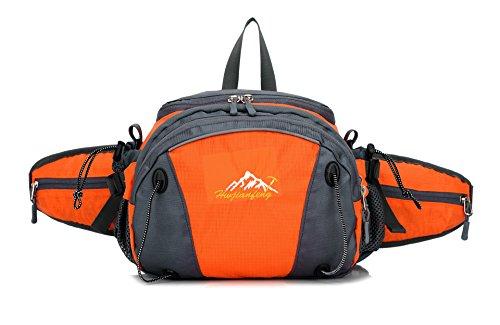 Yimidear multi borsa per sport corsa hiking ciclismo viaggio campeggio arancione
