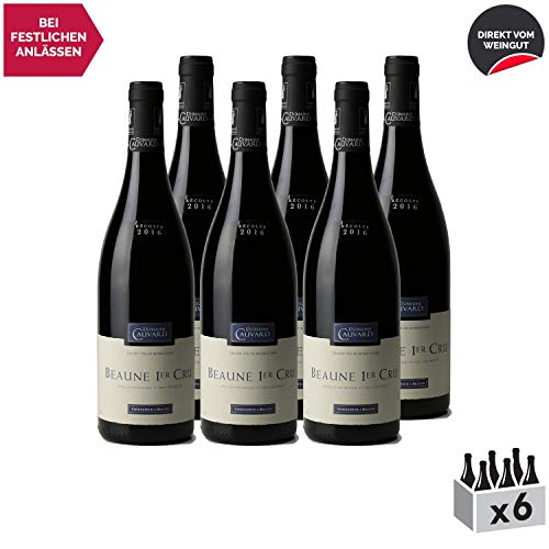 Beaune premier cru Rotwein 2016 - Domaine Cauvard - g.U. - Burgund Frankreich - Rebsorte Pinot Noir - 6x75cl