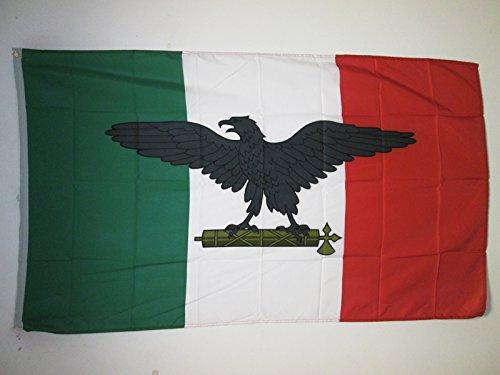 BANDIERA REPUBBLICA SOCIALE ITALIANA 150x90cm - BANDIERA FASCISTA - RSI ITALIA 90 x 150 cm - AZ FLAG