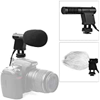 BOYA BY-VM01 Pro Video Broadcast Directional Condenser Mini Shotgun Microphone Interview Mic for Nikon D800 D3300 Canon 5D3 EOS T6i Sony A9 DSLR Camcorder DV (with Foam & Fur Dual Windshield)