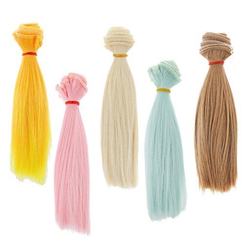 x100cm DIY Puppen Perücke Glattes Haare Für 1/3 1/4 1/6 Puppen Dress Up Zubehör (Rote Haare Puppe Halloween)