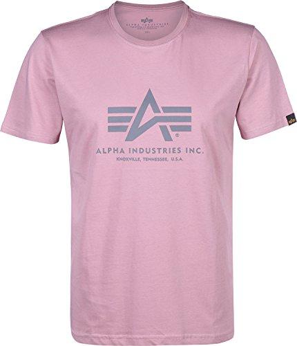 Alpha Industries Herren Basic T-Shirt Pink