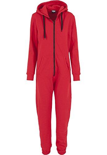 Urban Classics Damen Overall Jumpsuit Sweat Large Red/Blk
