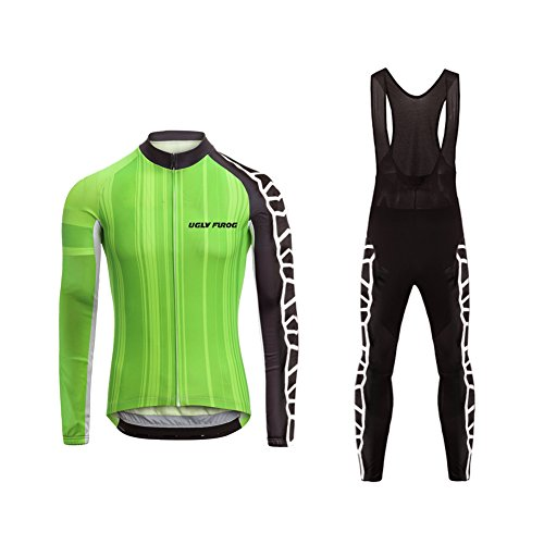 Uglyfrog Damen Radfahren Langarm Radfahren Jersey Winter with Fleece eine Menge Farben Antislip Ärmel Cuff Road Bike MTB Top Riding Shirt