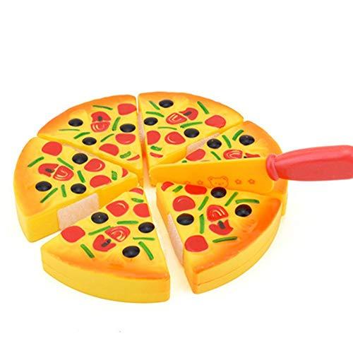 Qualität Kind Küche Simulation Pizza Party Fast-Food-Scheiben Schneiden Spiel Essen Spielzeug ()