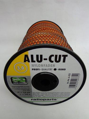 En nylon-cut mm 240 x 3 m avec rond aluminiumpartikel qualité professionnelle