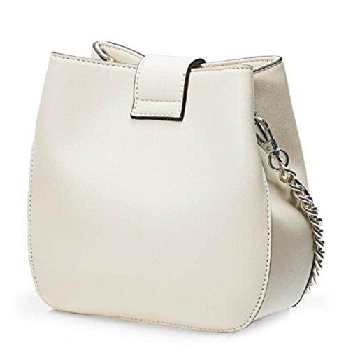 Damen Tasche Fashion Schultertasche Messenger Bag Beuteltasche,Beige Beige
