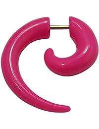 Espiral extensor falso para la oreja de UV acrílico rosa con una dilatación ...