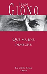 Que ma joie demeure (Les Cahiers Rouges) (French Edition)