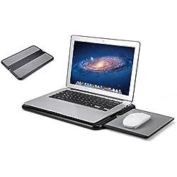 AboveTEK Laptop portable Lap Desk w / Rétractable Gauche / Droite Plateau de tapis de souris