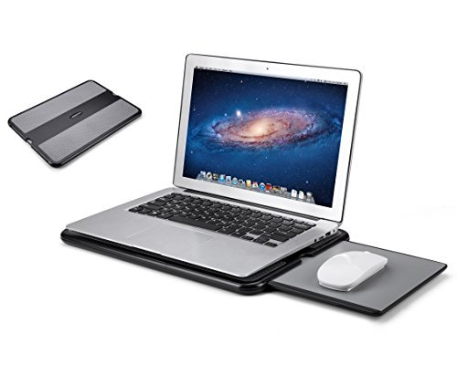 AboveTEK Portable Laptop Lap Desk für Bett Sofa Couch oder Reise -