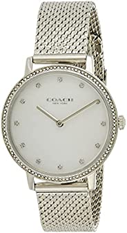 Coach Women's White Mother Of Pearl Dial Stainless Steel Watch - 14503358, Si