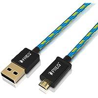 Cavo FRiEQ USB 2.0 Maschio A – Micro B Rivestito In Tessuto Ad Alta Velocità (Wireless Handheld Dispositivo)