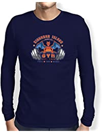TEXLAB - Cinnabar Island Gym 1986 - Herren Langarm T-Shirt
