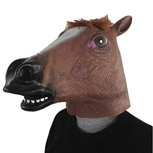 2019 Unicorn Horse Maske Halloween Creepy Party Deluxe Neuheit Kostümparty Cosplay Prop Latex Gummi Creepy Head Full Face Maske pferd (2019 Meme Halloween)