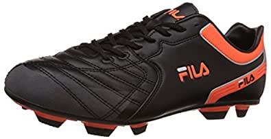 Fila Men's Malvolio Black and Orange Football Boots -8 UK/India (42 EU)