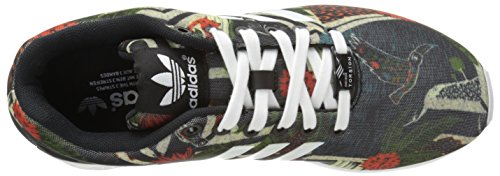 adidas Originals Women's ZX Flux W Lace-Up Fashion Sneaker, Black/White/Black, 10 M US CBlack/FTWWht/CBKBlack