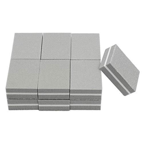 Aeromdale Mini Nagel Schwamm Nagelfeile Pufferblock Polieren Schleifen Professionelle Nagel Werkzeuge Doppelseitige Pediküre Maniküre Kleine Feile - Grau - 50St -