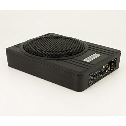 SSDN WSX-10SP Under-Seat Subwooferbox Aktiv Flach, 600 Real Watt, 10 Zoll, Schwarz (10in Flach-subwoofer)