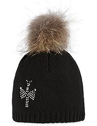 PIPOLAKI Mini Shiny Bonnet Fille, Noir, FR : TU (Taille Fabricant : TU)