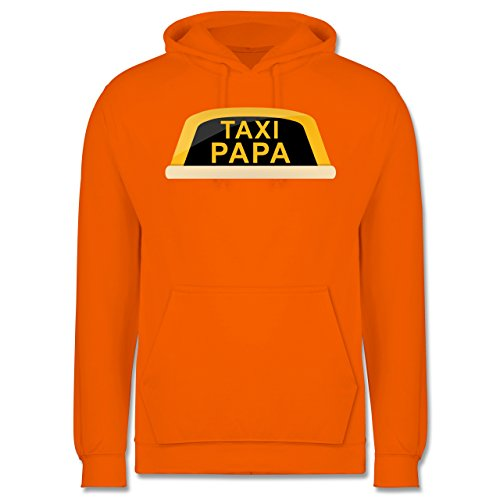 Vatertag - Taxi Papa - Männer Premium Kapuzenpullover / Hoodie Orange