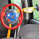 SLB Works Back Seat Car Steering Wheel Toys with Horn Sounds and Electronic Light