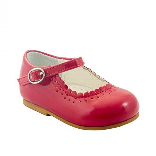Sevva Chaussures pour bébé antidérapantes fille Blanc/bleu marine/noir/rose/rouge Rouge