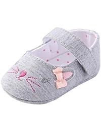 Zapatos de bebé,Tongshi Niño Niñas Cuna Zapatos Antideslizante Suela Suave Recién Nacido Zapatillas Sandalias