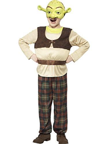 Kostüm Jungen Shrek Für - Luxuspiraten - Jungen Kinder Shrek Kostüm mit gepolstertem Oberteil, Hose und Maske, perfekt für Karneval, Fasching und Fastnacht, 122-134, Grün