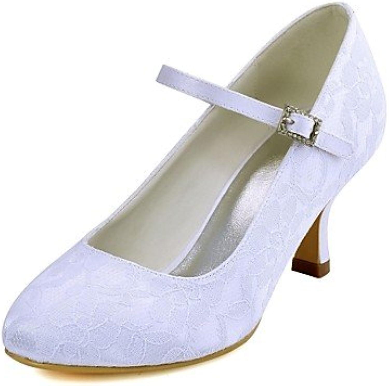 RTRY Las Mujeres'S Wedding Shoes Bomba Básica De Satén Stretch Primavera Otoño Boda &Amp; Noche Crystal Stiletto...