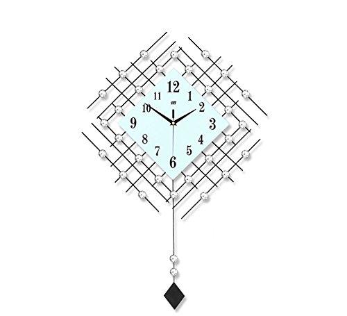 Salon horloge murale balançoire suspendue table horloge chambre personnalisée horloge à quartz silencieux ( Couleur : Noir )