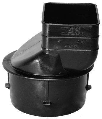 Advanced Drainage Sy. 465AA Downspout Adapter-3X4 DOWNSPOUT ADAPTER