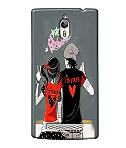 Fuson Perfect Couple Back Case Cover for OPPO FIND 7 - D3943