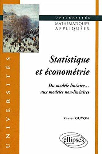 Statistique et économétrie - Du modèle linéaire aux modèles non-linéaires
