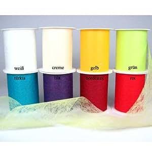 20m vlies dekoband vliesband schleifenband tischl ufer 100mm farbe gr n k che. Black Bedroom Furniture Sets. Home Design Ideas