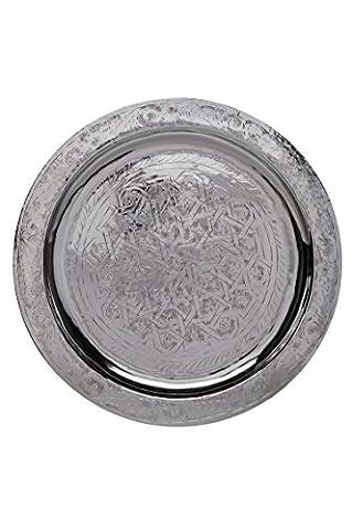 Orient Tablett Mehdia 40cm Silberfarbig
