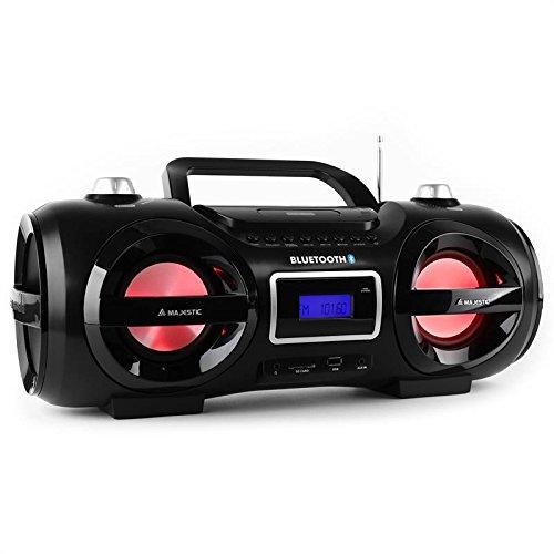 Majestic AH 234BT Bluetooth-Ghettoblaster Stereoradio schwarz