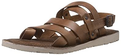 Pavers England Men's Tan Leather Sandals - 9 UK