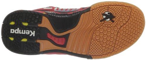KempaCyclone Xl (Michelin) - Scarpe da pallamano unisex adulto (Rouge/Noir/Jaune)