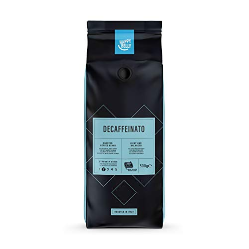 Amazon-Marke: Happy Belly Röstkaffee, ganze Bohnen, entkoffeiniert 'Decaffeinato' (2 x 500g)