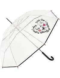 Smiley - Paraguas Largo Transparente Mujer - Automático