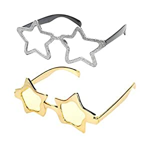 673840280f Homyl 2 pack Kids Girls  Shiny Five-point Star Shaped Sunglasses ...
