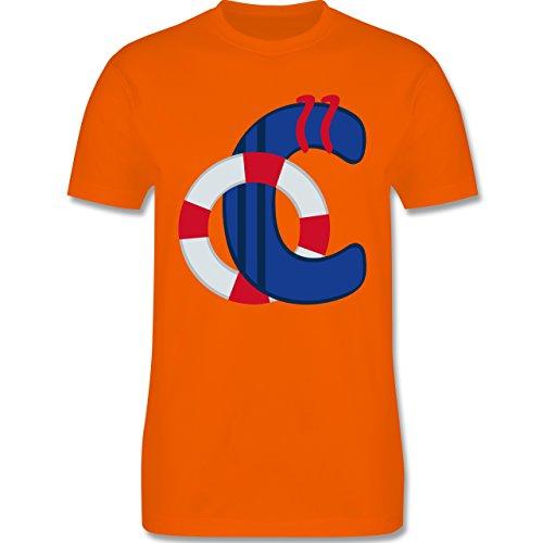 Anfangsbuchstaben - C Schifffahrt - Herren Premium T-Shirt Orange