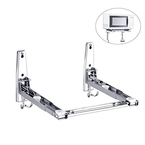 Mikrowellenhalterung Mikrowellenhalter für Mikrowelle, Backofen, Grill Wand 40kg Sliber (Style2-1)