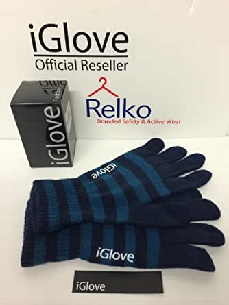 New Updated 2014 iGlove 5 Tip Touchscreen Gloves iPhone iPad Blackberry and Smartphones - Fashion Styles (Navy / Blue)