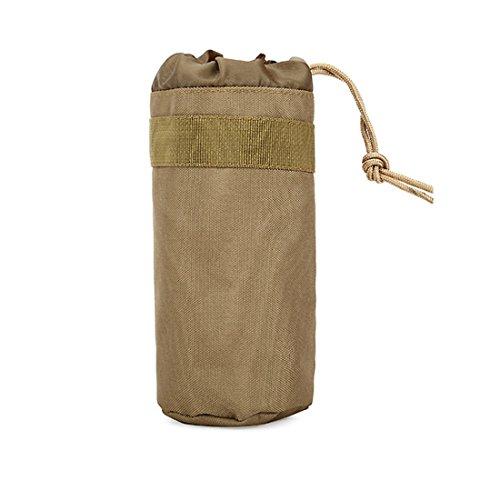 ruifu Unisex kleine Nylon Reisen Camping Wasser Flasche Tasche Outdoor Sports Tactical Tasche Zubehör-Sets Khaki
