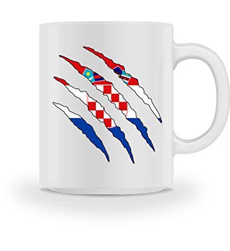 PlimPlom Kroatien Tasse Land Flagge Design Kaffeetasse Spaßgeschenk Spruch Geschenk Idee - Tasse...