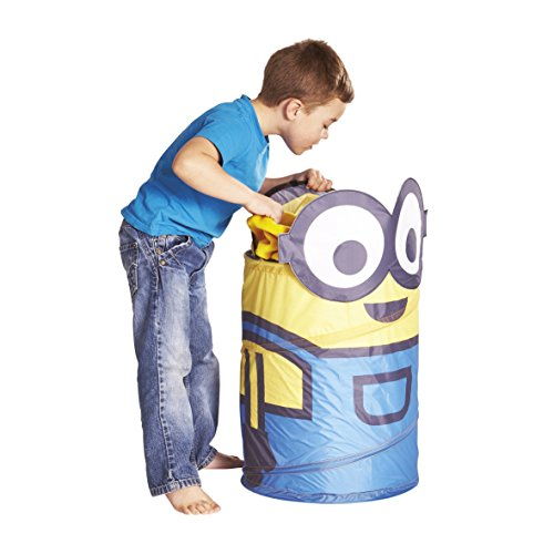 Minions 276DEP - Cubo para los juguetes, color amarillo
