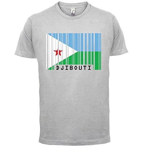 Djibouti / Dschibuti Barcode Flagge - Herren T-Shirt - 13 Farben Hellgrau